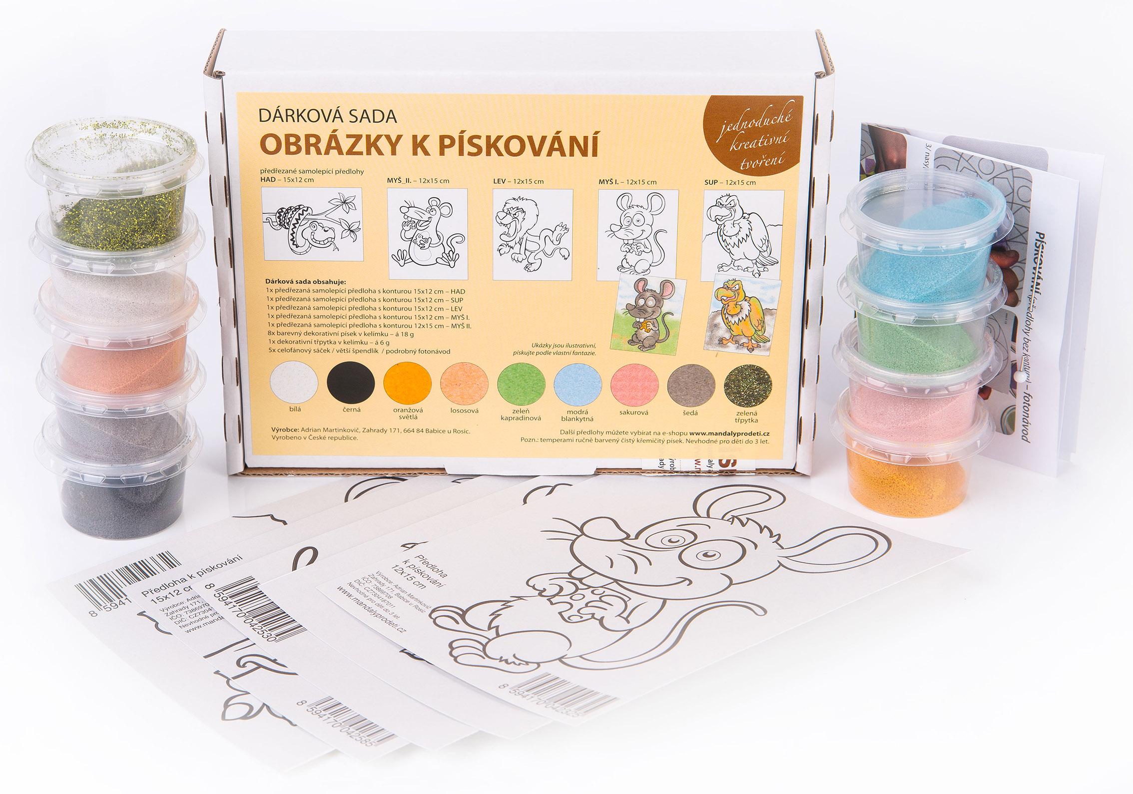 sada VESELÁ ZVÍŘÁTKA / 15x12-Dárková sada